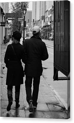 A Walk Together Canvas Print