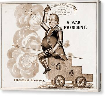 A War President. Progressive Democracy N. Currier Firm Canvas Print by Litz Collection