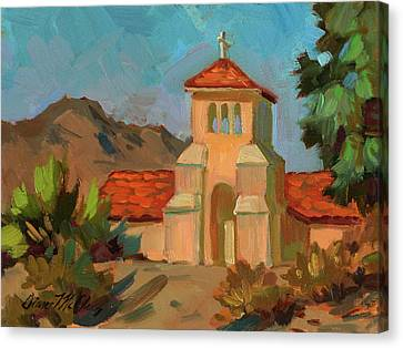 A Warm Day At Borrego Springs Lutheran Canvas Print by Diane McClary