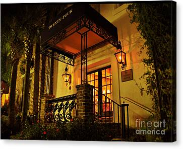 Canvas Print featuring the photograph A Warm Summer Night In Charleston by Kathy Baccari