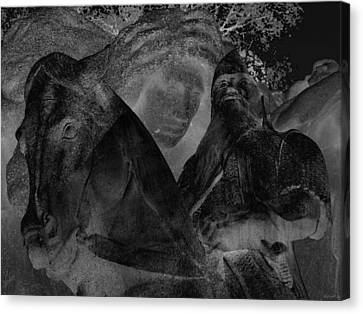 A Warrior's Mount Canvas Print