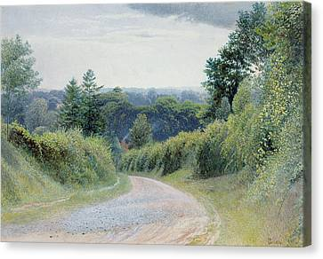 A Warwickshire Lane Canvas Print by Thomas Clack