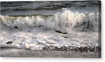 Topsail Island Canvas Print - A Wave Story by Betsy Knapp