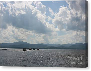 A Weekend On The Water Canvas Print by Barbara Bardzik