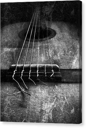 A Well Played Guitar Canvas Print