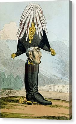 A Wellington Boot Or The Head Canvas Print by English School