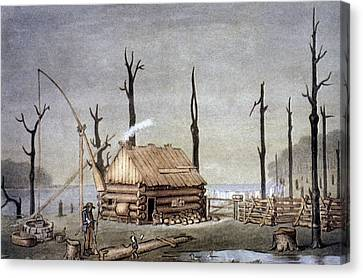 A Western Farm Site, 1822 Canvas Print