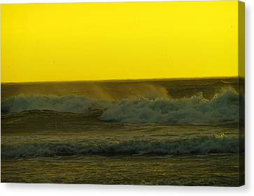 A Whisp Of Wind On The Waves Canvas Print by Jeff Swan