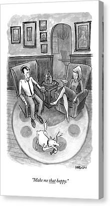 Sex Canvas Print - A Wife Speaks To Her Husband by Corey Pandolph