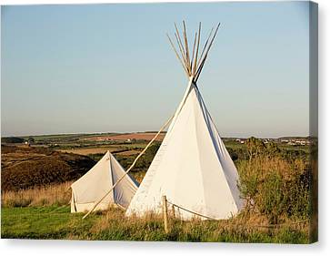 A Wigwam At Mount Pleasant Canvas Print by Ashley Cooper