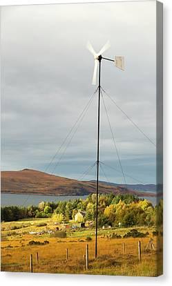 A Wind Turbine In Scoraig Canvas Print