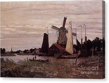 A Windmill At Zaandam Canvas Print