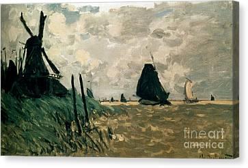 A Windmill Near Zaandam Canvas Print