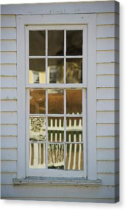 A Window Made With Antique Glass Canvas Print by Greg Dale