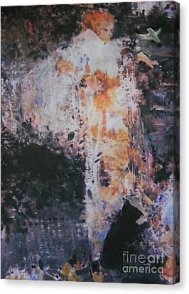 A Winged Friend Canvas Print by Nancy Kane Chapman