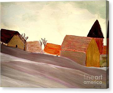 A Winter Morning Canvas Print