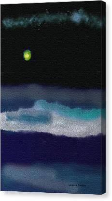 A Winter Night Canvas Print by Lenore Senior