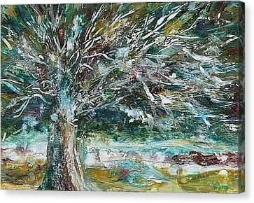 A Winter Tree Canvas Print by Mary Wolf