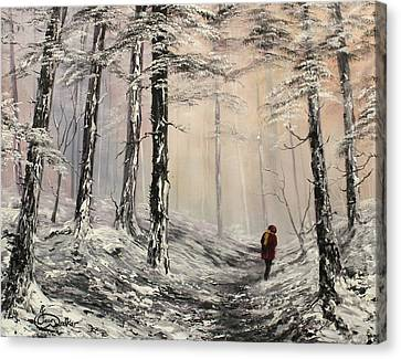 Cannock Chase Canvas Print - A Winter Walk by Jean Walker