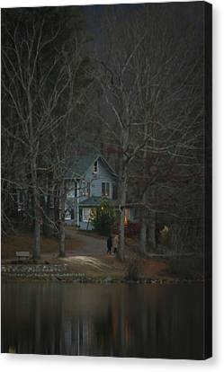 A Winter Walk Canvas Print by Tammy Schneider
