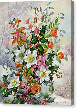 A Winter Wonderland Canvas Print by Albert Williams