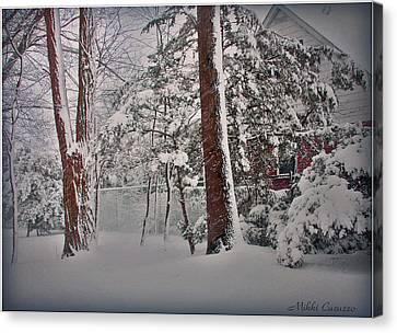 A Winter Wonderland Canvas Print by Mikki Cucuzzo
