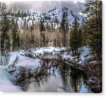 A Winters Peace Of Reflection Canvas Print