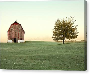 Early Morning Canvas Print - A Wisconsin Postcard by Todd Klassy