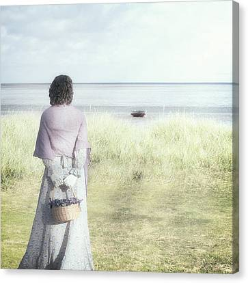A Woman And The Sea Canvas Print by Joana Kruse