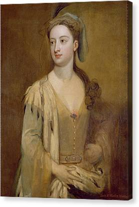 A Woman, Called Lady Mary Wortley Montagu, C.1715-20 Oil On Canvas Canvas Print by Sir Godfrey Kneller