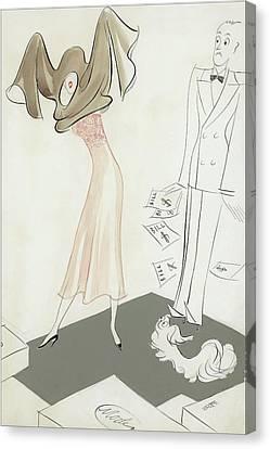 A Woman Hiding From Bills Canvas Print by Eduardo Garcia Benito