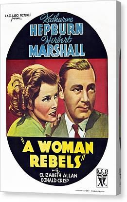 A Woman Rebels, From Left Katharine Canvas Print