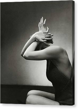 A Woman Shielding Her Head Canvas Print by Edward Steichen