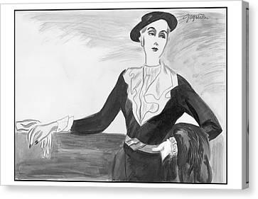 A Woman Wearing A Jay-thorpe Dress Canvas Print