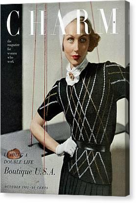 A Woman Wearing A Outfit By Joseph Guttmann Canvas Print