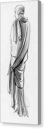 A Woman Wearing A Paquin Wrap Canvas Print by Porter Woodruff