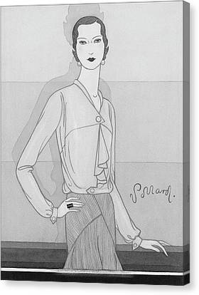 A Woman Wearing A Worth Blouse Canvas Print