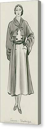January Canvas Print - A Woman Wearing Designer Clothing by Creelman