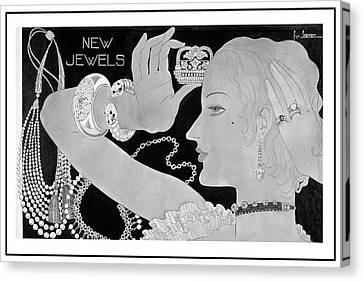 A Woman Wearing Designer Jewelry Canvas Print