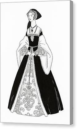 A Woman Wearing Tudor Style Clothing Canvas Print