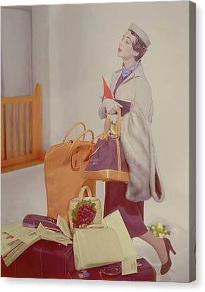 A Women In A Jacket Canvas Print