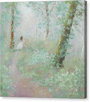A Wood Nymph 2 Canvas Print by Jan Matson