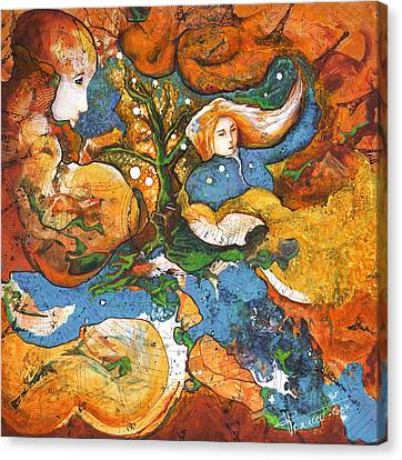 Inner World Canvas Print - A World Apart by Valerie Graniou-Cook
