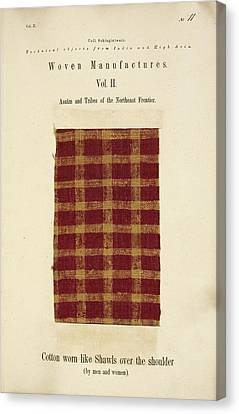 A Woven Piece Of Woollen Cloth Canvas Print by British Library