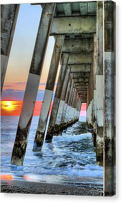 A Wrightsville Beach Morning Canvas Print by JC Findley