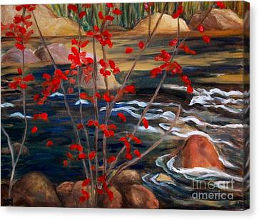 A Y Jackson The Red Maple Inspired Canvas Print by Sherrill McCall
