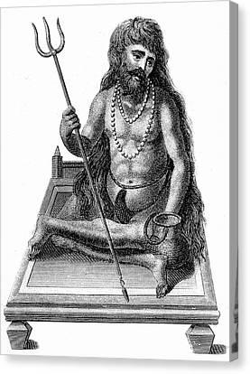 A Yogi Meditating Canvas Print by Universal History Archive/uig