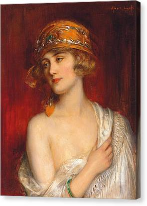 A Young Beauty Canvas Print by Albert Lynch