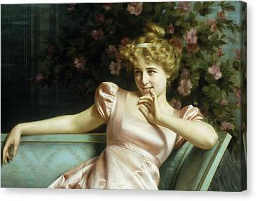 A Young Beauty Canvas Print by Vittorio Reggianini