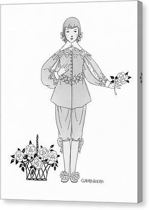 A Young Boy Wearing An Ensemble From The Courtly Canvas Print by Claire Avery